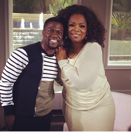 Kevin Hart and Oprah