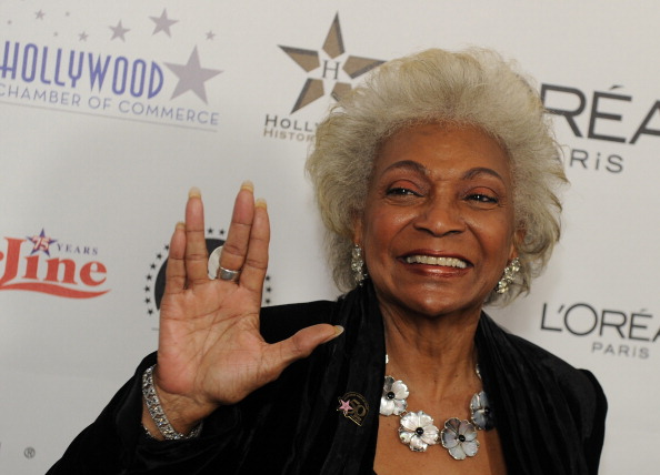 Actress Nichelle Nichols arrives on the