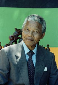Portrait of Nelson Mandela