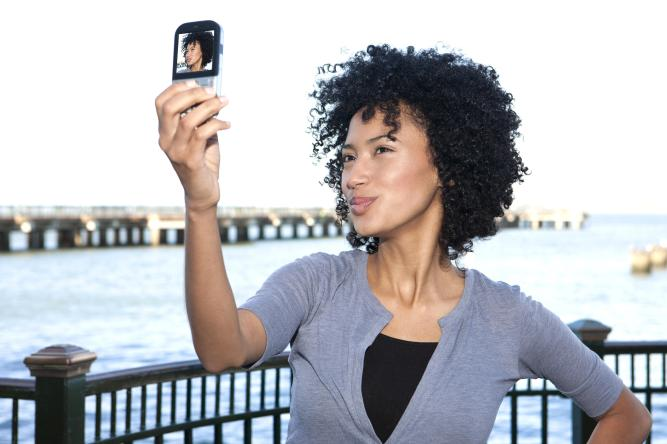 Young woman taking a self picture