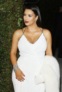Kim Kardashian pregnant - 21st Annual Elton John AIDS Foundation Academy Awards