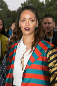 PARIS, FRANCE - OCTOBER 04:  Singer Rihanna is seen at Eiffel tower on October 4, 2015 in Paris, France.  (Photo by Marc Piasecki/GC Images)