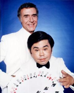 Ricardo Montalban (1920 - 2009) and Herve Villechaize (1943 - 1993) as Mr. Roarke and Tattoo in the American television series 'Fantasy Island', circa 1980. (Photo by Silver Screen Collection/Getty Images)