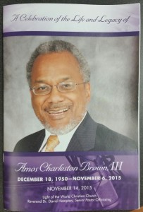 Obituary Program Cover of Amos C. Brown, III