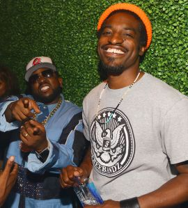 ATLANTA, GA - JULY 30:  Big Boi and Andre 3000 of the group Outkast attend Future Album Release Party at Gold Room on July 30, 2015 in Atlanta, Georgia.  (Photo by Prince Williams/WireImage)