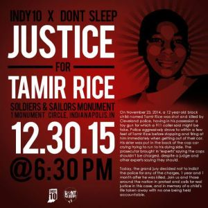Indianapolis Protests for Tamir Rice #BlackLivesMatter 123015