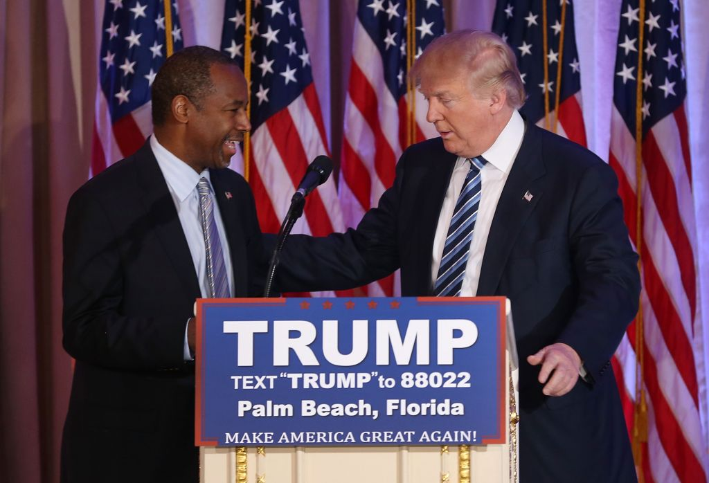 Donald Trump Holds Press Conference To Announce Ben Carson Endorsement