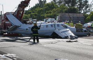 Single-Engine Plane Crashes On Florida Turnpike