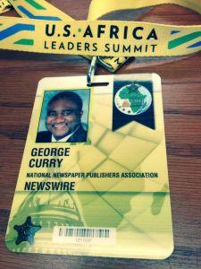 George E Curry Press Pass