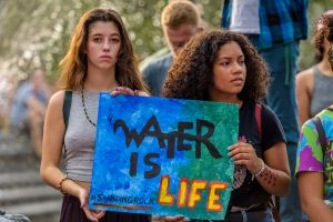 New York Activist groups stand in solidarity and to show...