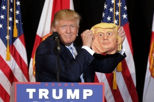 Donald Trump Campaigns In Florida One Day Before Presidential Election