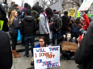 Rally against Donald Trump in New York City in response to...