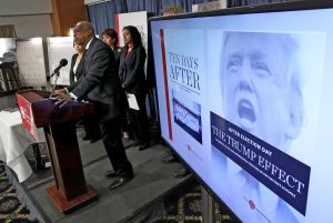 The Southern Poverty Law Center Holds News Conference Calling On Trump To Denounce Racism And Bigotry
