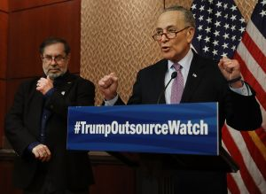 Chuck Schumer, Unions Unveil 'Trump Outsource Watch' At U.S. Capitol