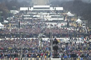 WASHINGTON, DC - JANUARY 20: A view of the crowd at the U.S. Ca