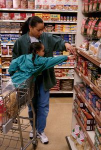 Mother and Daughter Grocery Shopping