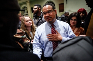 Rep. Keith Ellison Holds Town Hall Meeting At Detroit Church