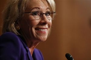 Trump\'s Selection For Education Secretary Betsy DeVos Testifies During Her Senate Confirmation Hearing