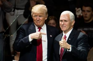 President-Elect Donald Trump And Vice President Elect Pence Hold Election Victory Rally In Ohio