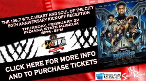 The 106.7 WTLC Heart & Soul of the City 50th Anniversary Kick-Off Reception Flyer