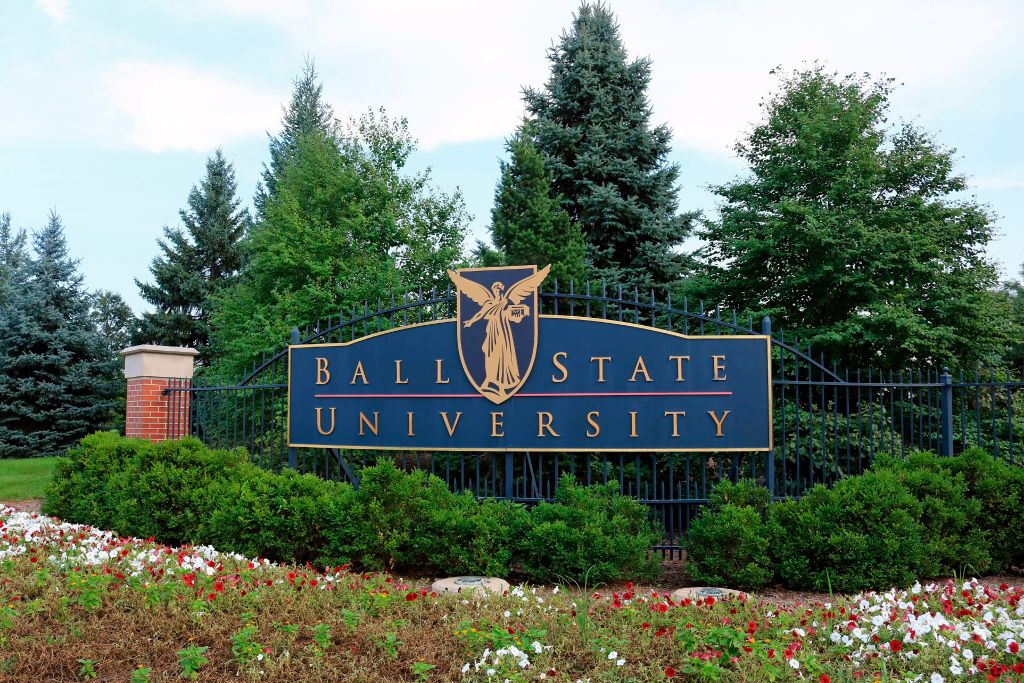 Ball State University entrance sign