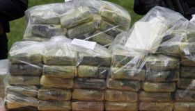 Bags of cocaine, which were seized during a special police...