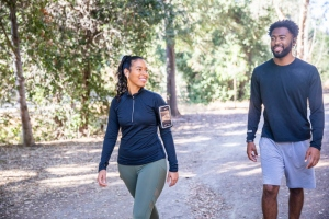 Diverse Couple Walking Fitness