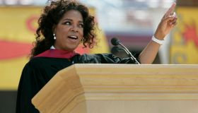 Oprah Winfrey gives an inspirational speech as the commencement keynote speaker during Stanford's commencement ceremony on June 12, 2008 in Stanford, Calif . This year, Stanford will confer an estimated 1,723 bachelor's degrees, 2,013 master's degrees