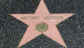 Michael Jackson's Hand And Footprint Tablet & Hollywood Walk Of Fame Star On Display In Celebration Of His Birthday