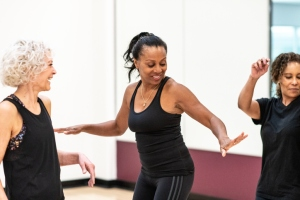 Women's Dance Fitness Class stock photo