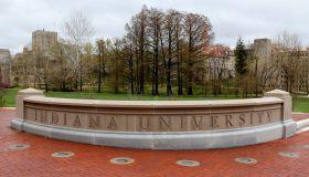 Entrance sign to Indiana University Bloomington Indiana