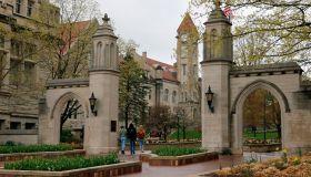 Campus scene University of Indiana Bloomington
