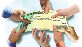 Stimulus check illustration