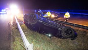 Driver flees after traffic accident on motorway 25