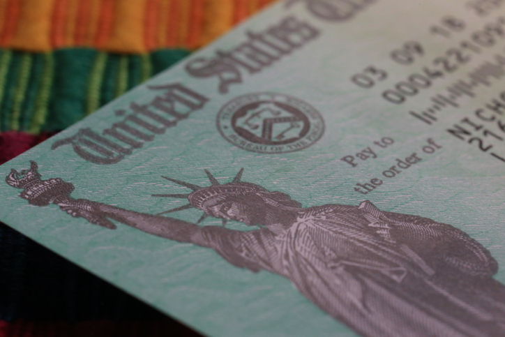 US Treasury federal tax return check