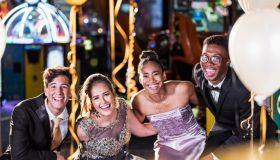 Teenagers having fun at prom