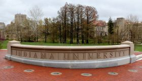 Entrance sign to Indiana University Bloomington Indiana