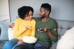 Girlfriend Demanding an Explanation for a Text Message