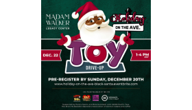 Holiday On The Ave Black Santa Toy Drive Up