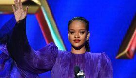 Rihanna during acceptance speech