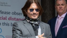 Johnny Depp attends libel trial against the Sun at The Royal Courts of Justice in London