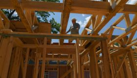 ATLANTA, GA - MAY 26- A worker is seen at a construction site f