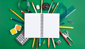 Notepad and school supplies